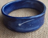 Shooting Star Porcelain Bangle, Cosmos Night Sky, Mrs Peterson Pottery