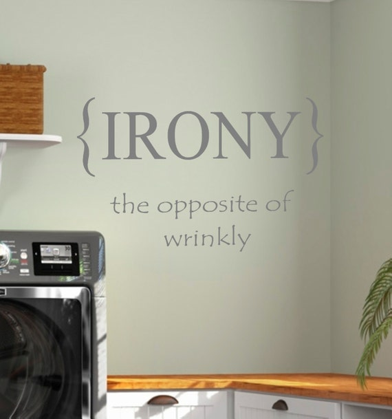 Laundry Room Wall Decor Stickers : Laundry room irony vinyl wall decal home decor
