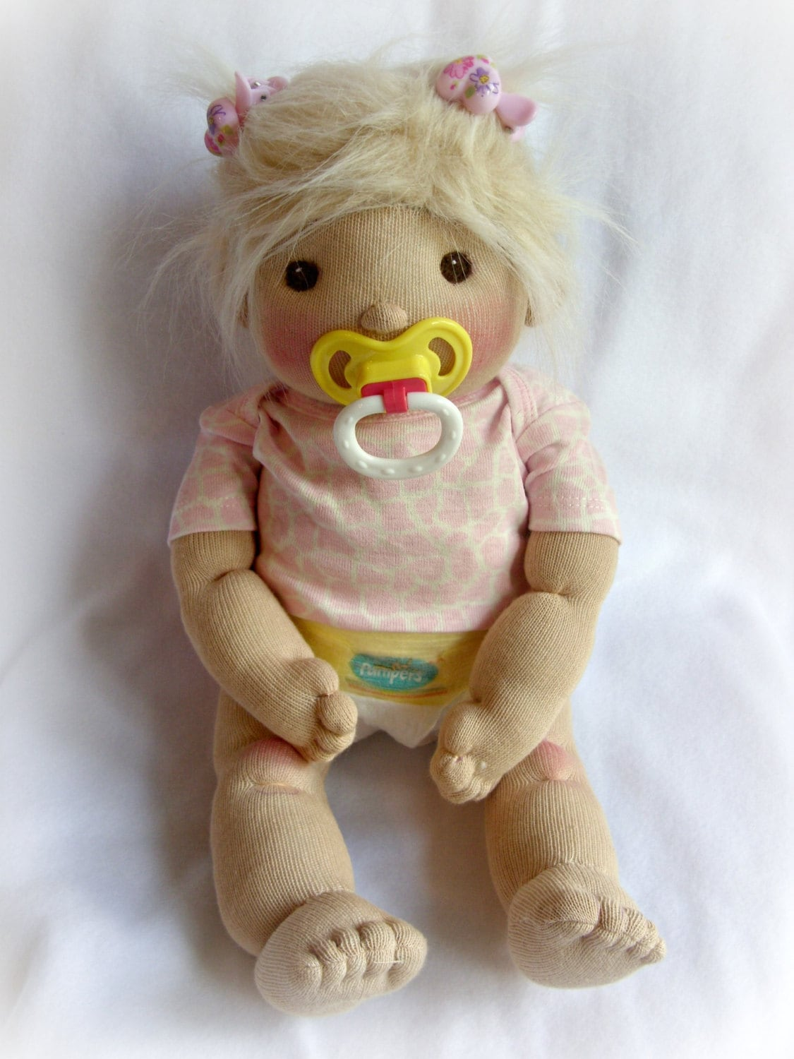 how to make a no sew sock doll