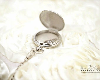SALE Pocket Watch Ring Bearer Pillow Shield Design Chain 'Sentinel', ring pillow, modern wedding ring pillow, winter wedding, spring wedding