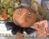 Made to Order Primitive Halloween Jack-O-Lantern Nodder Vintage inspired tag rusty bed spring OFG HAFAIR AB4B