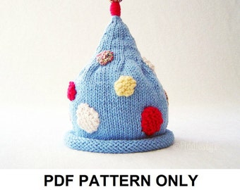 Knitting Pattern - Pixie Hat Pattern - the ADLER Hat (Newborn, Baby, Toddler, Child & Adult sizes incl'd)