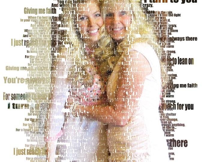 Song Lyric Art Wedding Vow Art Wedding Song Lyrics First Dance Lyrics First dance Song 2nd Anniversary Wedding Vows Cotton Anniversary 16x20
