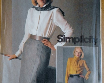 Vintage Sewing Pattern, Simplicity 6585, 80s Skirt, Strait Skirt, Pencil Skirt, 80s Office Wear, XS Small Waist 24