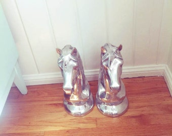 chrome horse statue --- one left! SALE 20% OFF!