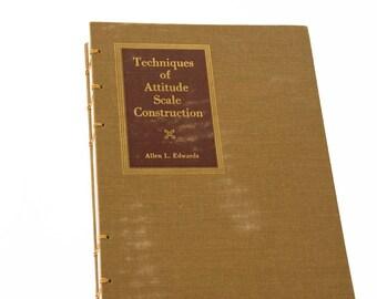 1957 ATTITUDE Vintage Notebook Journal