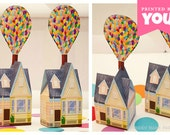 Balloon House Favor Box (Large) : DIY Printable UP Inspired House PDF - Instant Download