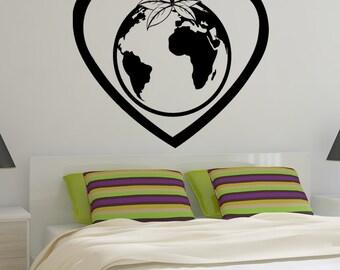 Vinyl Wall Decal Sticker Love Earth 1208m