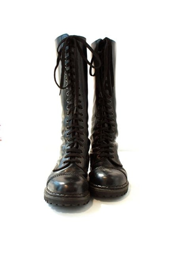 Tall Black Combat Boots - Cr Boot