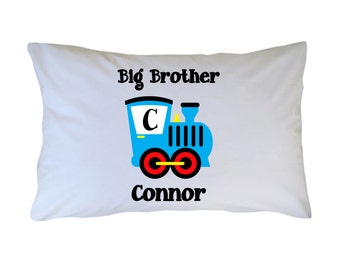 Big Little Brother Train Pillow Case - Personalized