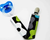 Soothie Pacifier Clips - Groovy Guitars in Lagoon - Mam Gumdrop Nuk Avent Soothie