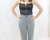 SALE ITEM Vintage 60s Checkered Pants