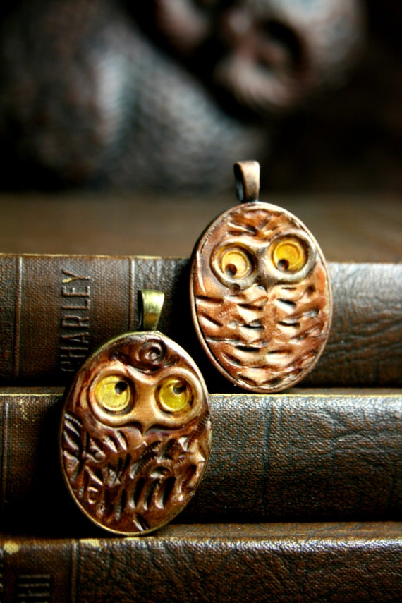 return of the woodsy owl  - simple truths pendant - MADE TO ORDER