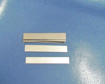 1/4 x 2 - Aluminum rectangles - 24g - hand stamping blanks -metal blanks - rings blanks