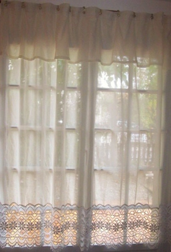 Shower Curtain, Lace Curtains, Sheer Window Treatment, Patio Door ...