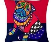 Pug Art Pillow -   -  by Heather Galler (HG791)