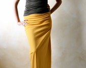 Maxi skirt, Pencil skirt, Long skirt, Cotton skirt, jersey skirt, Fitted skirt, Women clothing, Summer skirt, Yellow skirt, Boho skirt