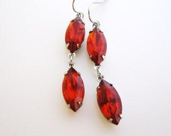 Topaz earrings in silver