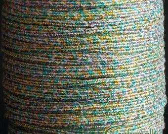 Soutache braid - flat 2.5mm soutache cord - rainbow (ST1660) - 3 meters