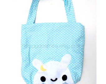 Star Bunny Tote Bag - Schoolbag, Backpack, Animal Tote Bag, Reusable Bag, Beach Bag, Colorful Handmade Tote, Women's Tote, Christmas Gift