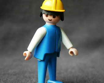 Vintage 1974 Playmobil first generation blue toy.