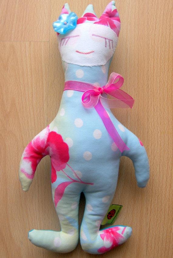 "Princess Soft Doll Light Blue, 15"" high"