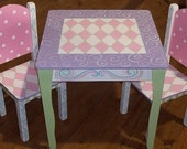 DesksTable and 2 Chair set CUSTOM Kids Furniture Children Furniture Kids and Baby Home and Living