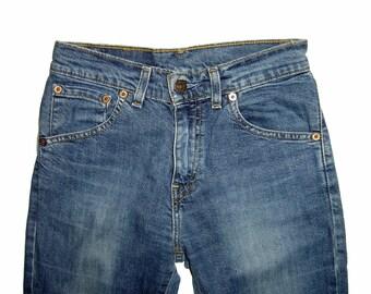 ON SALE Vintage Womens LEVI'S Levis Bootcut 525 Stretch Jeans Denim 25x32 Levi's Strauss