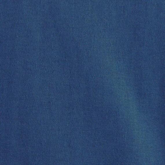 Circular Knitting Fabric : Jersey knit circular fabric medium blue lightweight cotton