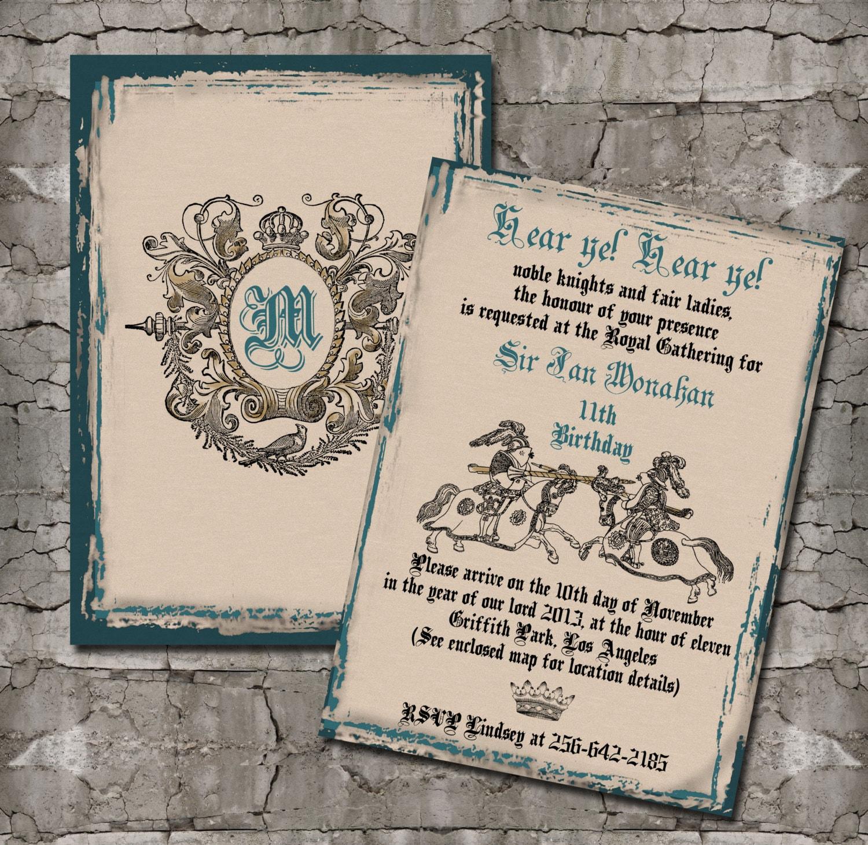 medieval wedding invitations wording - Google Search ...