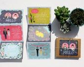 SALE- Folded Wedding Invitations : Custom Illustrated