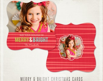 Merry & Bright Christmas Card - Millers Lab and WHCC Ornate