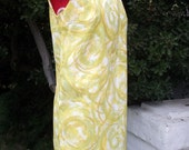 Vintage 1960s Abstract Swirl Shift Dress Fritze of California