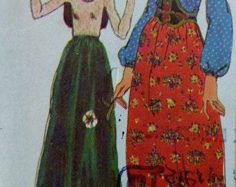70s Boho Style Skirt & Blouse Size14