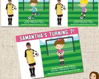 PRINTABLE Girl Soccer Party Invitation #584