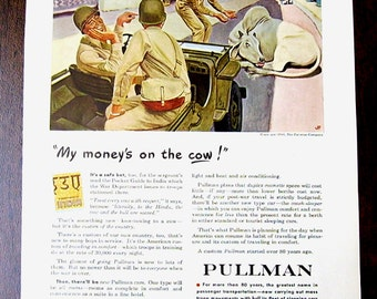 Pullman Company - WWII - Train Cars - 1944 - Magazine Advertisement