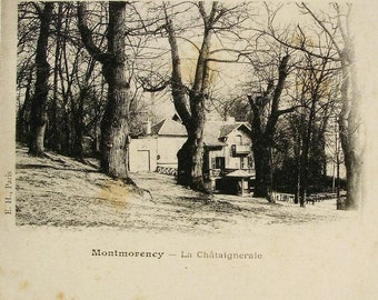 Montmorency, Val-d'Oise, France - Unused Antique Vignette French Postcard