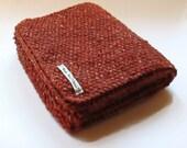 Scarf in Burnt Orange Aran Tweed Wool