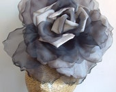 SALE Extra Large Rose -  Black and Grey WAS 50 NOW 40.00