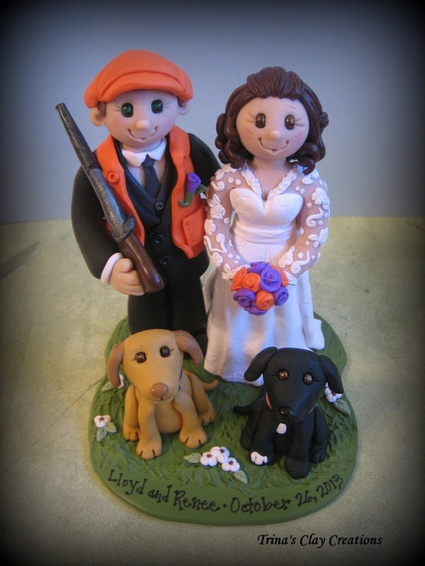 hunting themed wedding cake toppers wedding cake topper theme custom and groom 16212