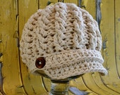 Crochet Newsboy Hat Pattern, Cabled Newsboy Hat Pattern, Toddler, Girls, Adult, Crochet Hat Pattern, Cotton Hat, Knit Pattern, Crochet Hat