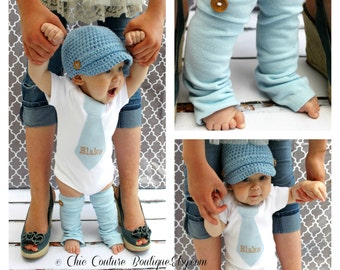 Baby Boy Summer Blues! NON -PERSONALIZED 1st Birthday Outfit, Baby Boy, Baby Blue Tie Bodysuit Wood Buttons. Cake Smash Wedding Baby Outfit