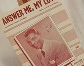 Answer Me, My Love, Piano Guitar Music, Sheet Music, Voice Music, Nat King Cole
