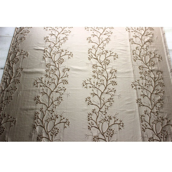 Tree Of Life Embroidered Weaved Curtain Fabric Upholstery Fabric ...