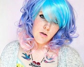 Pastel wig, pink wig, purple wig // Hipster Boho Indie Scene wig // Purple Blue Pink Hair // Frosted Dream