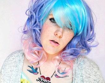 SALE Pastel wig, pink wig, purple wig // Hipster Boho Indie Scene wig // Purple Blue Pink Hair | Frosted Dream