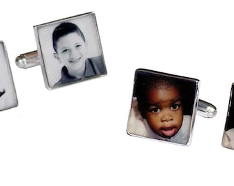 Sterling Photo Cuff Link