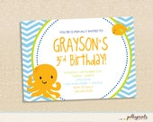 Under the Sea invitation - set of 12