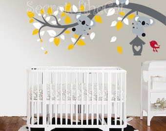 Nursery Wall decal branch vinyl decal vinyl decal children Koalas decal Koalas and tree decal