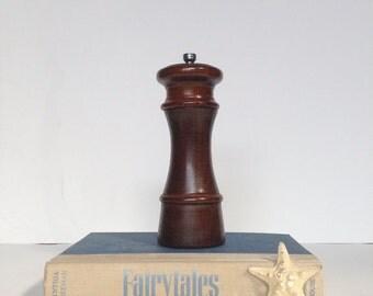 Vintage Wooden Olde Thompson Salt Shaker